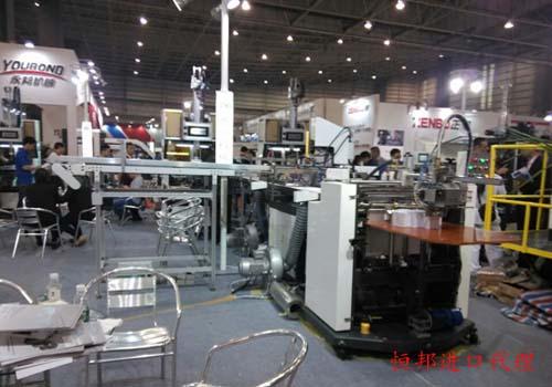 展览中心的各式进口机械
