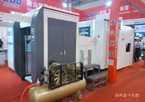 展览中心的各种印刷机械